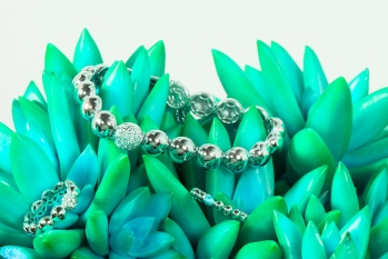 PAD Tacori Silver Ball bracelet and rings-turqouise 1000x699